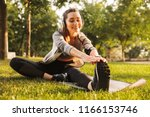 image of smiling fitness woman... | Shutterstock . vector #1166153746