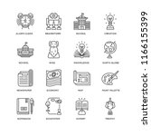 set of 16 simple line icons... | Shutterstock .eps vector #1166155399