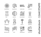 set of 16 simple line icons... | Shutterstock .eps vector #1166155690