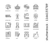 set of 16 simple line icons... | Shutterstock .eps vector #1166155789