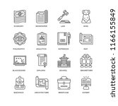 set of 16 simple line icons... | Shutterstock .eps vector #1166155849