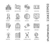 set of 16 simple line icons... | Shutterstock .eps vector #1166155903