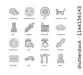 set of 16 simple line icons... | Shutterstock .eps vector #1166156143