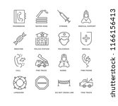 set of 16 simple line icons... | Shutterstock .eps vector #1166156413