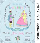 baby shower invitation with...   Shutterstock .eps vector #1166157160