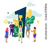 success concept based modern... | Shutterstock .eps vector #1166159896