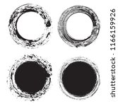 vector grunge circles.grunge... | Shutterstock .eps vector #1166159926