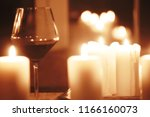 red wine glass serving  ... | Shutterstock . vector #1166160073