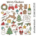 merry christmas traditional... | Shutterstock .eps vector #1166161510