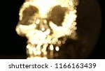 occult ceremony with gold skull ... | Shutterstock . vector #1166163439