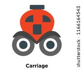 carriage icon vector isolated... | Shutterstock .eps vector #1166164543