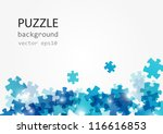 puzzle blue background with... | Shutterstock .eps vector #116616853