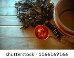 russian sauna broom   sauna...   Shutterstock . vector #1166169166