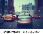 view of car in  traffic jam  ... | Shutterstock . vector #1166169250