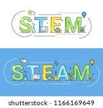 steam and steam education...   Shutterstock .eps vector #1166169649