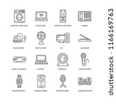set of 16 simple line icons... | Shutterstock .eps vector #1166169763