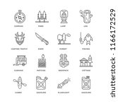 set of 16 simple line icons... | Shutterstock .eps vector #1166172529