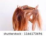 closeup portrait of female...   Shutterstock . vector #1166173696