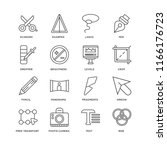 set of 16 simple line icons... | Shutterstock .eps vector #1166176723