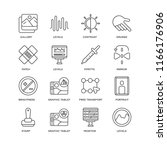 set of 16 simple line icons... | Shutterstock .eps vector #1166176906