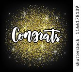 hand sketched congrats text as... | Shutterstock .eps vector #1166178139
