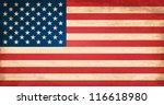 grunge flag of united states | Shutterstock .eps vector #116618980