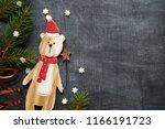 christmas decoration background ... | Shutterstock . vector #1166191723