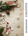 christmas decoration background ... | Shutterstock . vector #1166193253