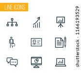 business icons line style set... | Shutterstock .eps vector #1166193529
