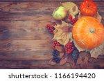 autumn time background ... | Shutterstock . vector #1166194420
