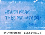 heaven means to be one with god ... | Shutterstock . vector #1166195176