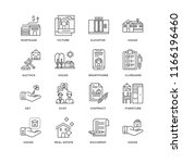 set of 16 simple line icons...   Shutterstock .eps vector #1166196460