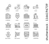 set of 16 simple line icons...   Shutterstock .eps vector #1166196739