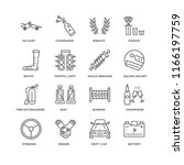 set of 16 simple line icons... | Shutterstock .eps vector #1166197759