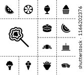 delicious icon. collection of...   Shutterstock .eps vector #1166202376