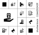 mp3 icon. collection of 13 mp3... | Shutterstock .eps vector #1166202439