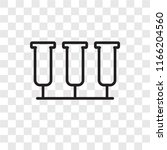 test tube vector icon isolated... | Shutterstock .eps vector #1166204560