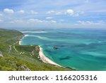 coast view of atlantic ocean in ... | Shutterstock . vector #1166205316