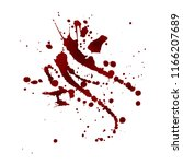 realistic bloody splatters.... | Shutterstock .eps vector #1166207689