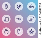meditation icons line style set ... | Shutterstock .eps vector #1166209933