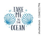 take me to the ocean t shirt... | Shutterstock .eps vector #1166211796