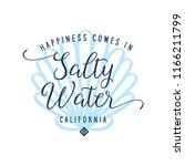 salty water calligraphy tshirt... | Shutterstock .eps vector #1166211799