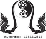 abstract swirl floral naga ... | Shutterstock .eps vector #1166212513