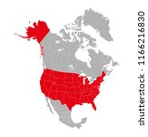 map of north america with... | Shutterstock .eps vector #1166216830