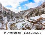 beautiful landscape of a valley ... | Shutterstock . vector #1166225233