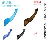 somalia watercolor country map. ... | Shutterstock .eps vector #1166229970
