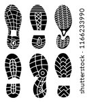 footprint icons isolated on... | Shutterstock . vector #1166233990