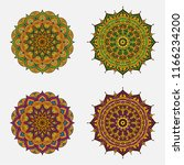 abstract circle ornament with... | Shutterstock .eps vector #1166234200