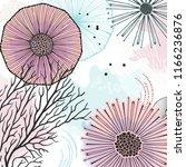 vector nature doodles texture.... | Shutterstock .eps vector #1166236876