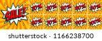 big orange sale set. sale... | Shutterstock . vector #1166238700